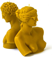 Aphrodite of Milos & Hermes by Praxiteles Candles