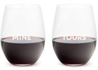 Mine & Yours Wine Glasses