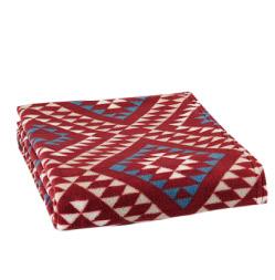 Geometric Fleece Throw